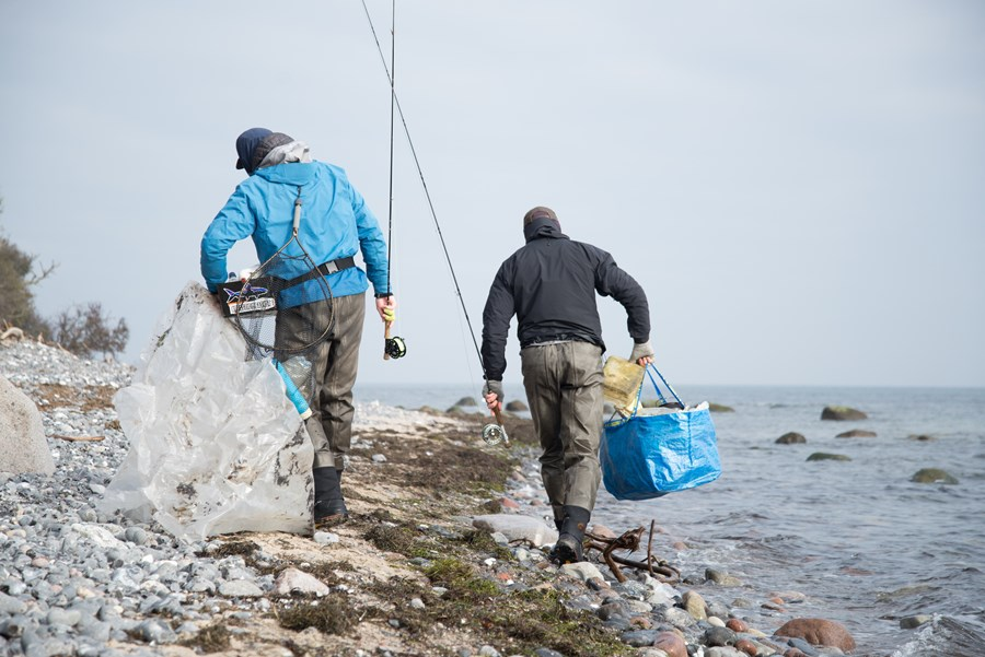 Lystfiskere Affald