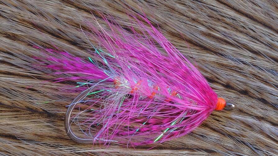 Billed 1, -en fantastsik delikat pink rejeimitation, der blev bundet på fluebindingskursus med Peter Stoltze fra Slagelse.jpg