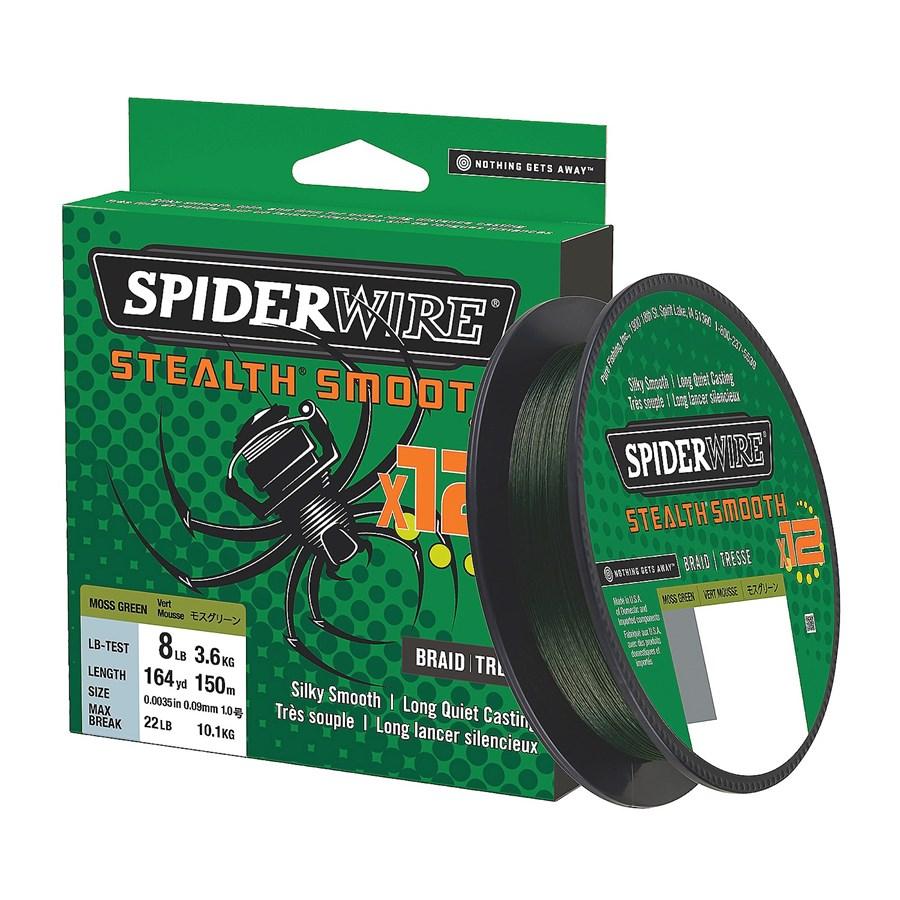1507350 Spiderwire Stealthsmooth12 Braid Moss Green Filler 2019 Alt5